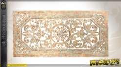 d coration murale en bois sculpt et patin finition ancienne. Black Bedroom Furniture Sets. Home Design Ideas