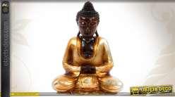 Statuette décorative en bois du Buddha