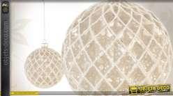 Série de 6 boules de Noël en verre motifs losanges