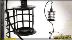 lots de 3 cages oiseaux avec photophores. Black Bedroom Furniture Sets. Home Design Ideas