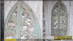 Miroir-fenêtre mural et décoratif de style ancien