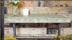 Etagère murale de style industriel en bois et métal