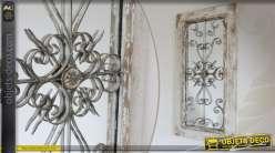 miroir baroque dor avec tag re en sellette murale 68 cm. Black Bedroom Furniture Sets. Home Design Ideas