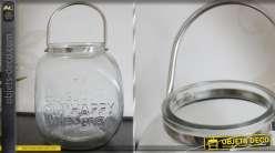 Lanterne en verre avec anse