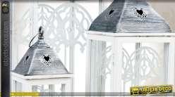 Trio de lanternes décoratives de charme coloris blanc