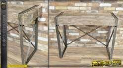 Console vintage et indus effet bois ancien