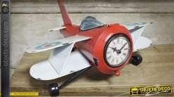 Horloge vintage en forme d'avion