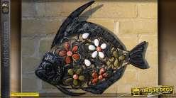 Poisson déco murale en fer forgé