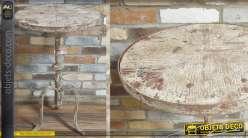Table d'appoint ronde de style rustique