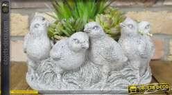 Cache-pot déco motifs oiseaux