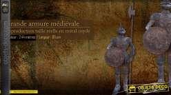Grande armure médiévale déco 2,44 mètres