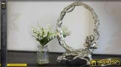 Miroir de table argenté de style romantique