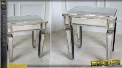 Table de nuit de style industriel et r tro en bois et m tal for Table de chevet miroir