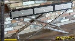 Console de luxe en métal et miroir de style design et moderne