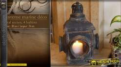 Lanterne marine ancienne à hublots