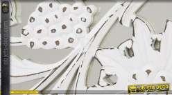 Décoration murale en miroir blanc ornementé sculpté 151,5 cm