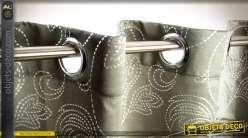 Paire de rideaux 140x270 Collection Anthracite brillant en polyester