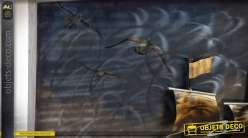 tableau d coratif en relief et en m tal grand voilier ancien. Black Bedroom Furniture Sets. Home Design Ideas
