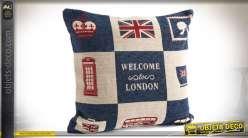 Coussin décoratif 45 x 45 cm Welcome to London