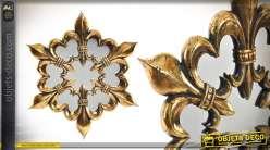 Miroir de style baroque en résine Fleur de Lys 41 cm