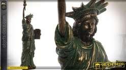 Statuette Statue de la Liberté coloris bronze vieilli 48 cm