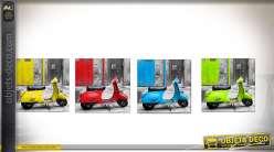 Série de 4 cadres Vespa différentes coloris