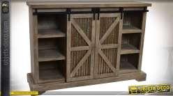 Commode / buffet en bois et métal de style rustique et indus.