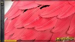 Flamant rose décoratif en métal 86 cm