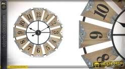 Horloge en bois et métal - A l'heure d'aujourd'hui  Ø70