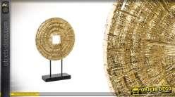 Sculpture en résine et métal finitions brillantes Ø35cm