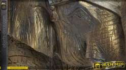 Sculpture en résine finitions vieillies d'un éléphant 35 cm