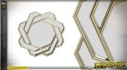 Miroir effet tourbillon imitation métal de 61 cm