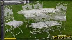grand salon de jardin luxe en fer forg. Black Bedroom Furniture Sets. Home Design Ideas