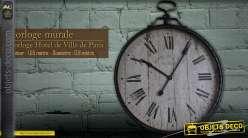 Horloge géante murale ancienne Ville de Paris