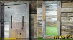 Grand miroir esprit brocante en bois recyclé 190 cm