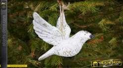 Mobile suspendu en forme d'oiseau blanc décoratif