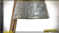 Lampe de bureau de style industriel en bois et métal vieilli