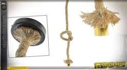 Suspension en forme de corde tressée 155 cm