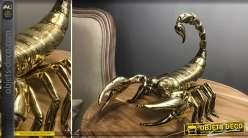 Représentation d'un scorpion doré brillant, esprit signes du zodiaque, 24cm