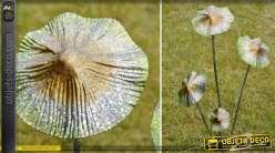 Champignons décoratifs géants en métal pour décoration extérieur 85 cm