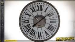 Horloge murale ronde en bois et métal Anciens bistros de Paris Ø 76 cm