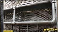 Etagère unité de stockage industriel en métal avec châssis en tyaux de plomberie 80 cm