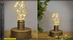Petite lampe à poser de style rétro et industriel avec éclairage LED 15 cm