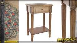 Table de chevet en bois de manguier style ethnico-français fin du XVIIe