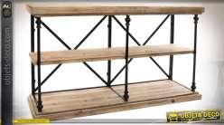 Table de drapier en bois et métal de style rustique et rétro 137 cm