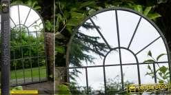 Miroir arcade en métal style indus rétro chic 77 cm