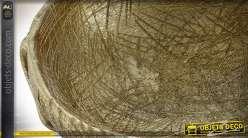 Centre de table doré en forme d'éléphant 32,5 cm