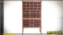 Meuble à tiroirs de style rétro et industriel en sapin et métal 144 cm