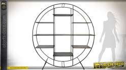 Etagère bibliothèque design circulaire en métal 193 cm