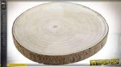Série de 6 rondins de paulownia avec écorce Ø 32 cm